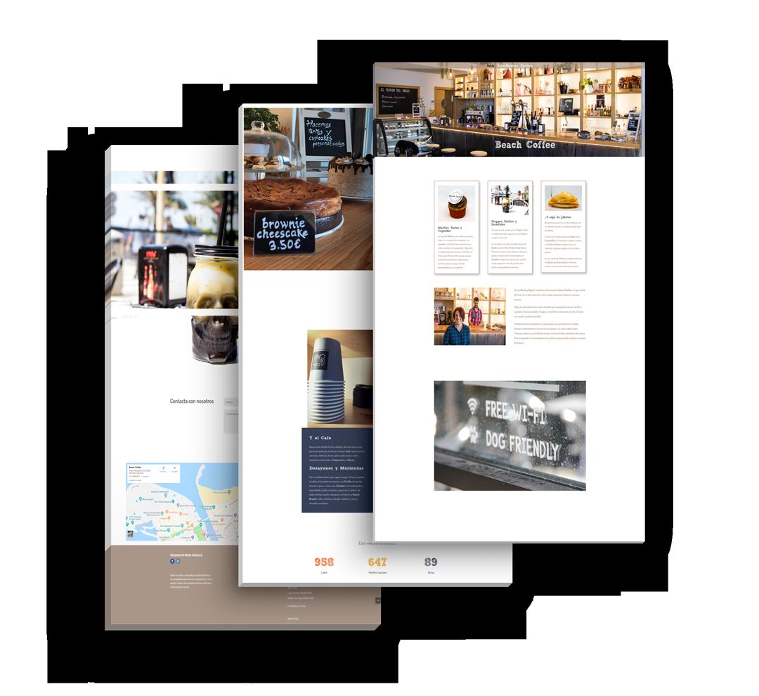 beach coffee mockup portfolio seik diseño web redes sociales en gipuzkoa
