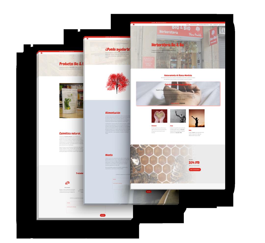 portfolio herboristeria bio bio en seik.es diseño web y redes sociales en gipuzkoa 1