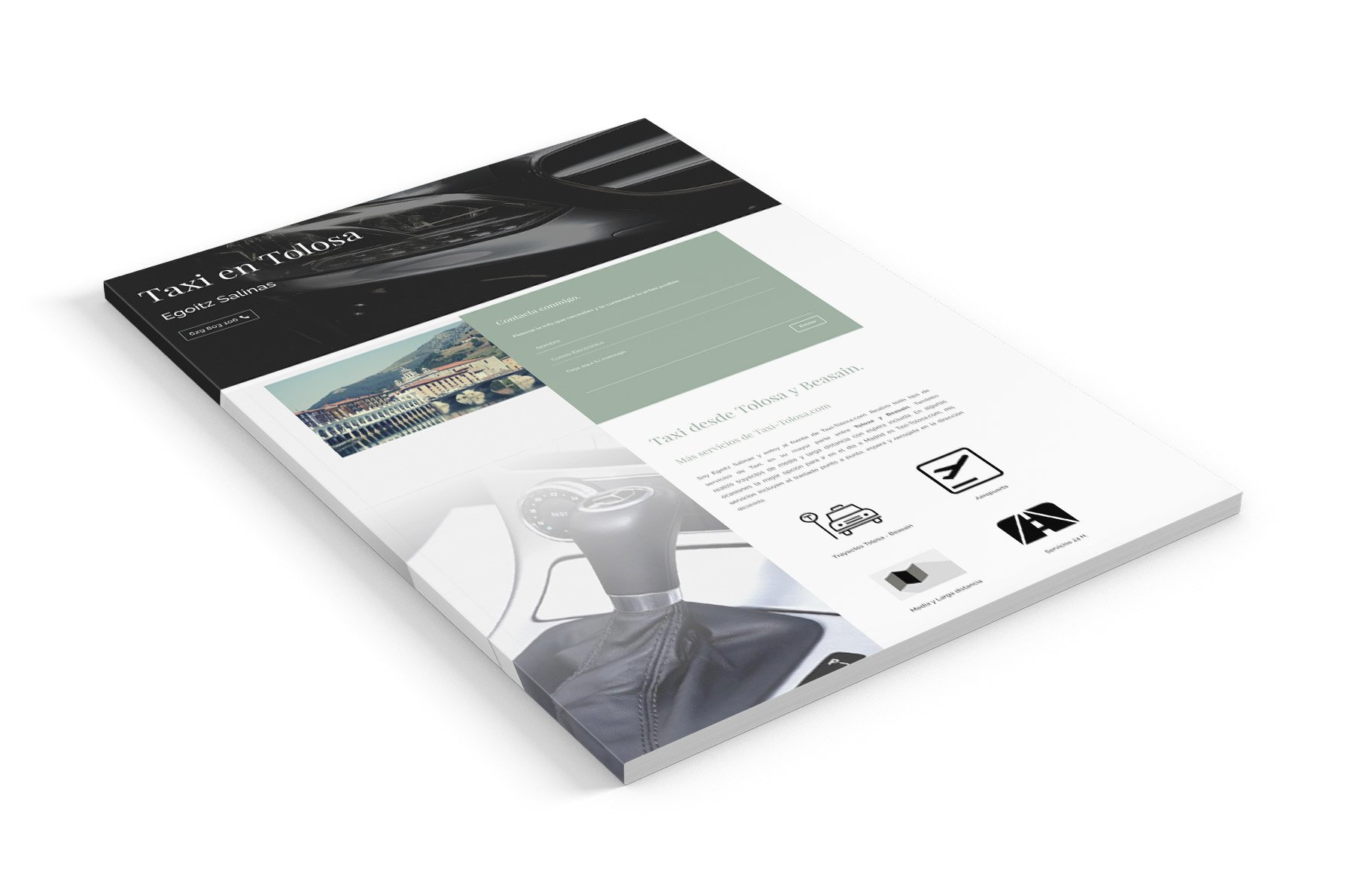 proyecto portfolio taxi-tolosa.com diseño web en gipuzkoa seik 2