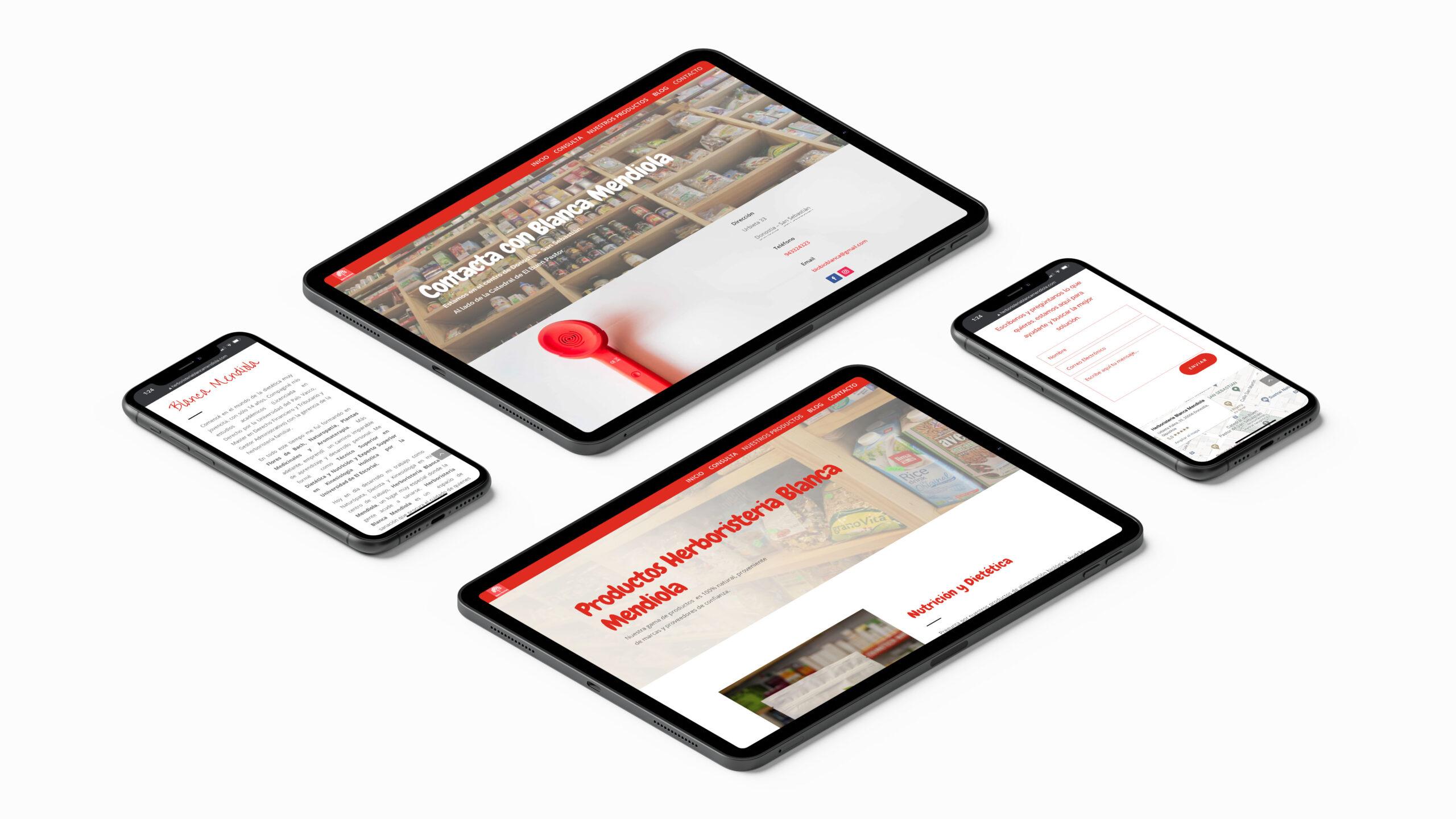 portfolio proyecto herboristeria blanca mendiola diseño web responsive multidispositivo