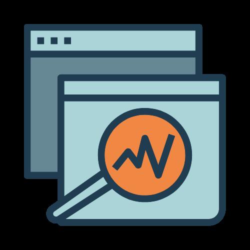 icono diseño web posicionamiento seo estudio de palabras clave