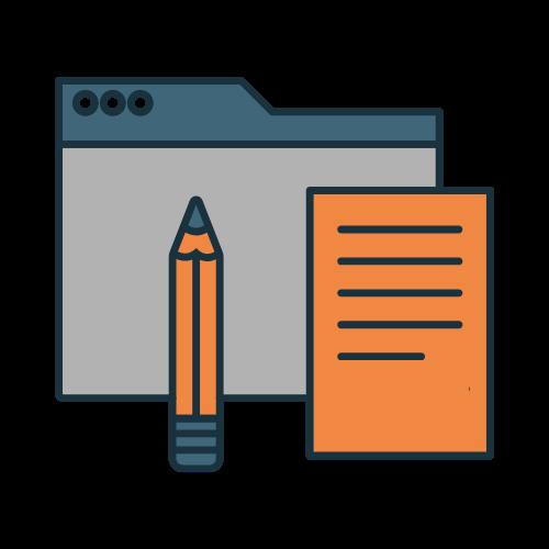 icono redacción de contenidos o copywriting seik diseño web y redes sociales