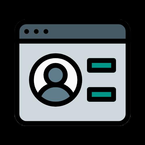 icono servicio perfiles sociales crear seik